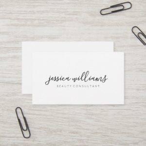 Minimalist Modern Script Business Card