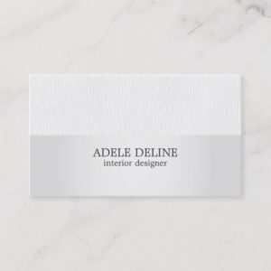 Minimalist Texture Grey Silver Interior Designer Business Card