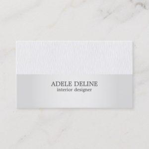 Minimalist Texture Grey Silver Interior Designer Business Card
