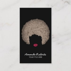 Modern Afro Style Beauty & Hair Stylist Business Card
