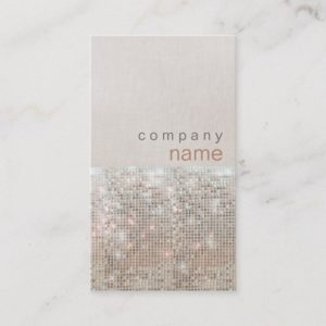 Modern and Hip Beauty and Fashion Salon Business Card