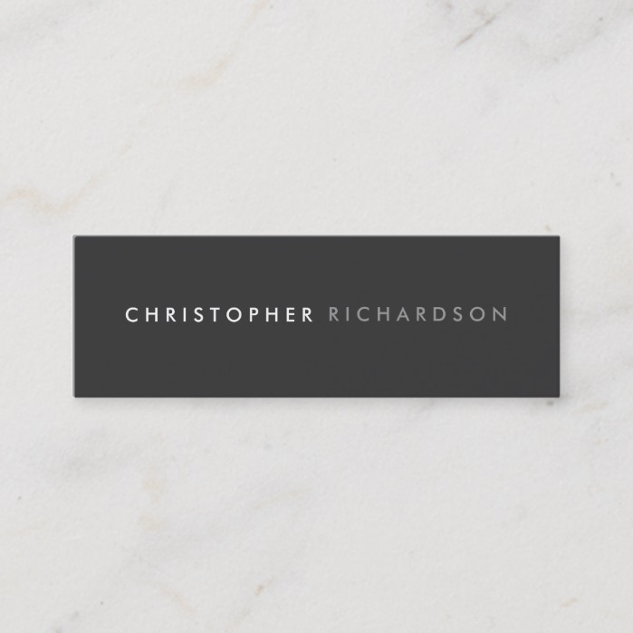 MODERN and MINIMAL No. 4 Skinny Business Card