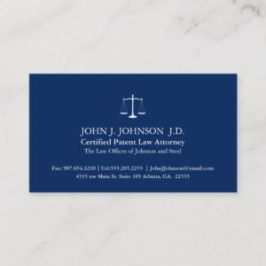Modern and Minimal Solid Navy Attorney Business Card