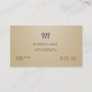 Modern and Monogram Business Card