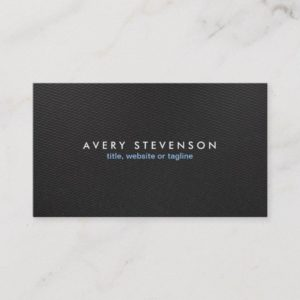 Modern Black Plain  & Simple Elegant Professional Business Card