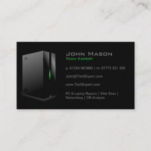 Modern Black Technology - Business Card