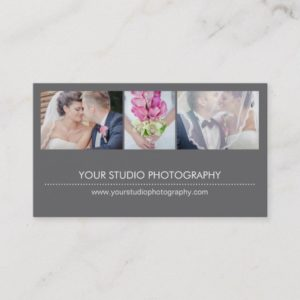 Modern Collage Business Card - Gray