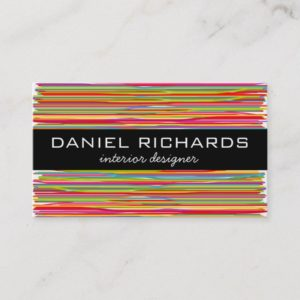 Modern Colorful Interior Designer Business Card