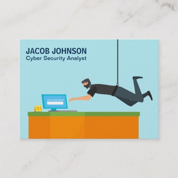 Modern Cyber Security Analyst Business Card