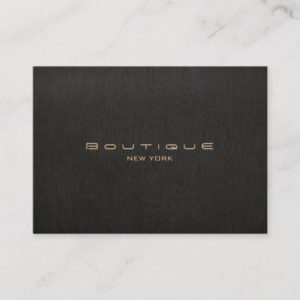 Modern Designer Faux Black Linen Professional Business Card