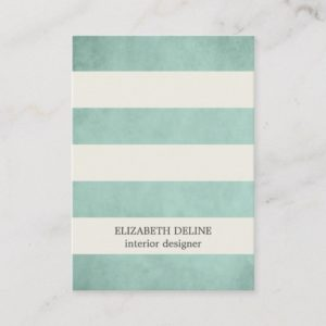 Modern Elegant Texture Green Interior Designer Business Card