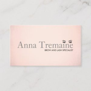 Modern Faux Rose Gold Foil Beauty Salon Business Card