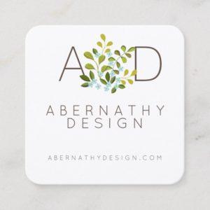 Modern Floral Contemporary Natural Design Card