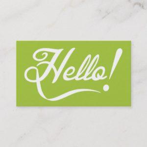 Modern Green - Hello Business Card