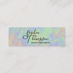 Modern Holographic Rainbow Pastel - Business Card