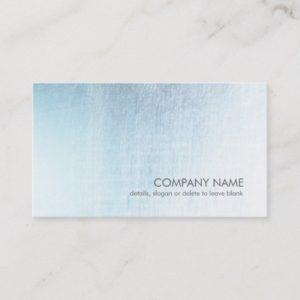 Modern Light Blue Brushed Metal Look Business Card