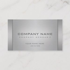Modern Metal Business Cards