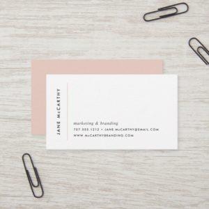 Modern Minimal Business Cards   Blush