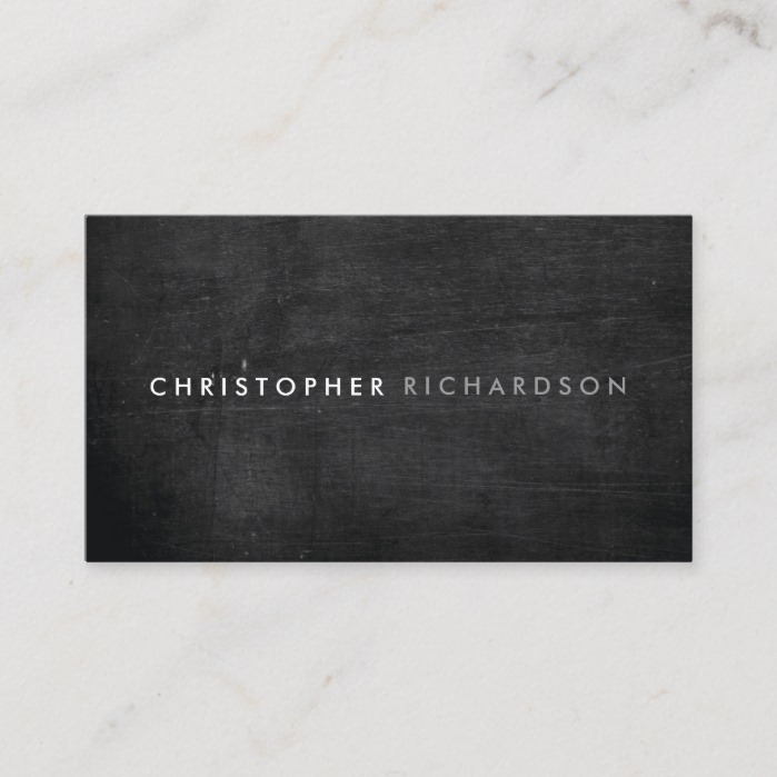 MODERN & MINIMAL on BLACK WOOD Business Card