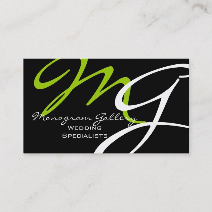 Modern monogram business card template business card branding modern monogram business card template colourmoves