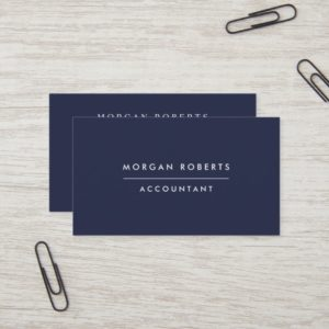 Modern Navy Blue Accountant Lawyer or Professional Business Card