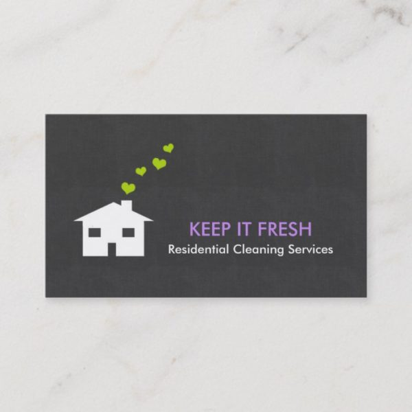 Modern Simple Cleaning Service Business Cards