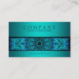 modern Underwater Beauty mandala blue Business Card