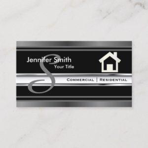 Monogram Real Estate Professional Agent Business Card