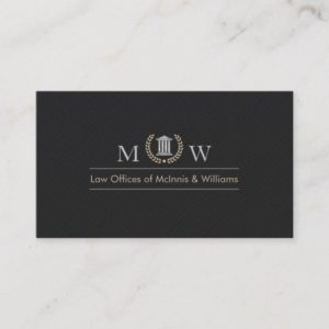 Monogramed Courthouse Business Card