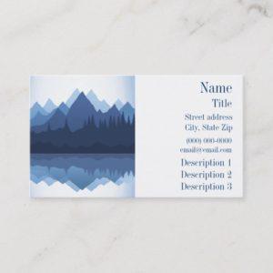 Mountain Silhouette Design Business Card