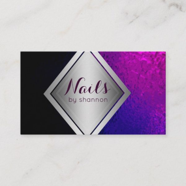 Nail technician- Trendy beauty salon business card