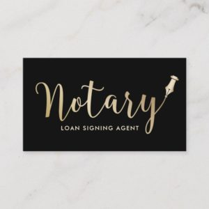 Notary - Loan Signing Agent Professional Business Card