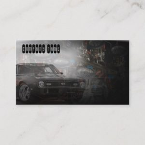 old retro muscle classic car business card