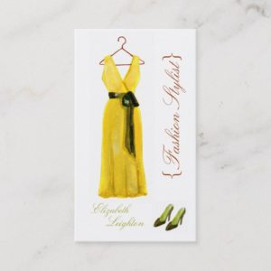 Original Illustration Fashion Styli Business Cards