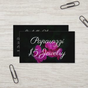 Paparazzi Consultant Pink Flowers Business Cards