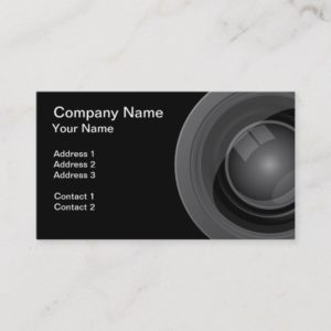 Photographer or Videographer Business Card