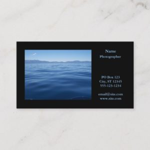 Photography Landscape Horizontal Black Business Card
