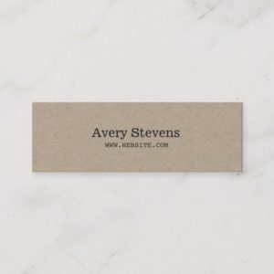 Plain and Simple Beige Texture Minimalist Mini Business Card