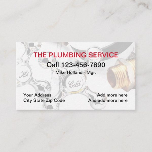 Plumbing Service Design Business Card