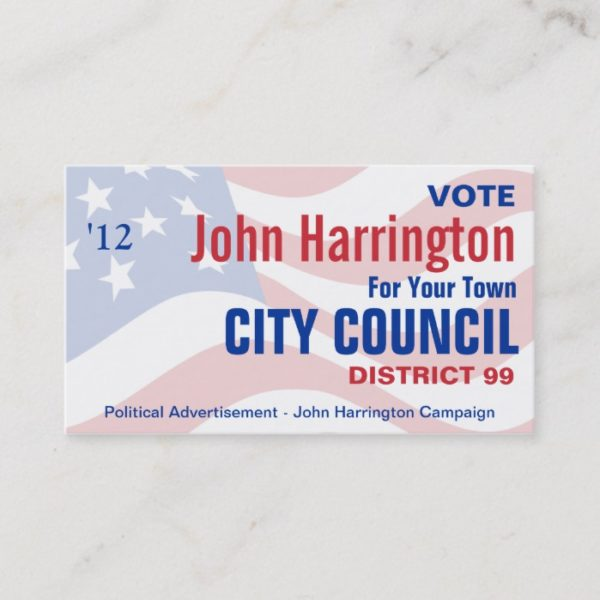 Political Campaign - City Council Business Card
