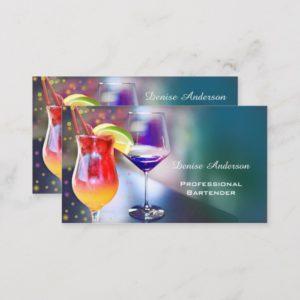 Professional Bartender Business Card