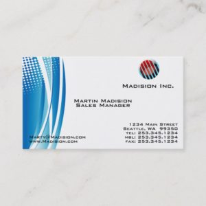 Professional Blue Modern Business Card Template