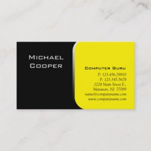 Professional Business Card Computer Yellow