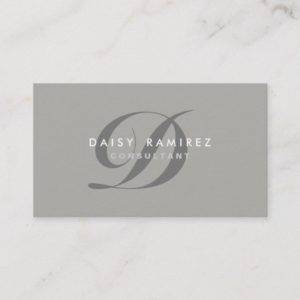 Professional Business Card Modern Monogram