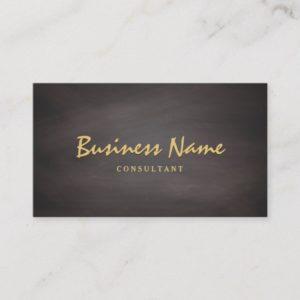 Professional Chalkboard Simple Minimalist Business Card