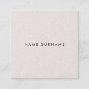 Professional Clean Linen Square Business Card