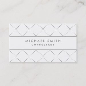 Professional Elegant Cosmetologist Fashion White Business Card