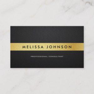 Professional Elegant Modern Black and Gold Business Card