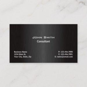 Professional Elegant Modern Black Plain Simple Business Card