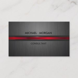 Professional Elegant Modern Black,Red Business Card